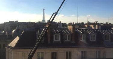 Grue de déménagement à Paris